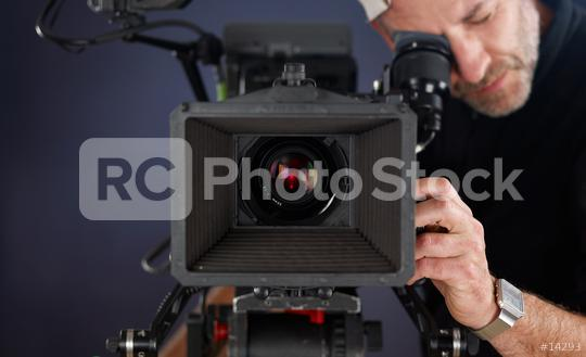 cameraman working with a cinema camera  : Stock Photo or Stock Video Download rcfotostock photos, images and assets rcfotostock   RC-Photo-Stock.: