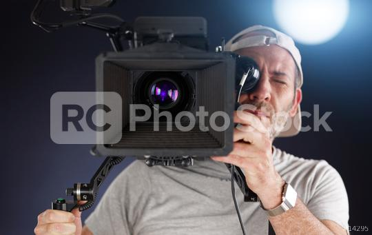 cameraman working with a cinema camera  : Stock Photo or Stock Video Download rcfotostock photos, images and assets rcfotostock | RC-Photo-Stock.:
