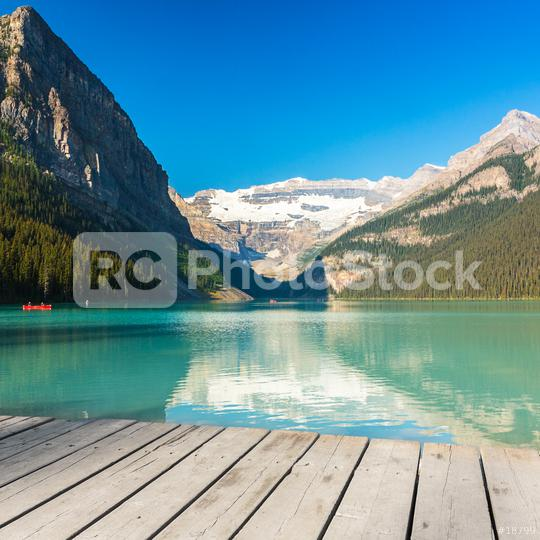 Canoeing at Lake Louise at the Rocky Mountains   : Stock Photo or Stock Video Download rcfotostock photos, images and assets rcfotostock | RC-Photo-Stock.:
