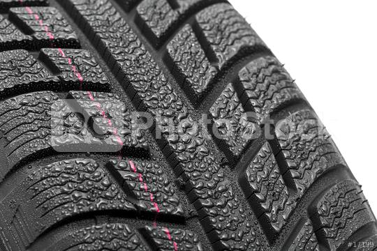 Car tires close-up Winter wheel profile structure with water drops on white background  : Stock Photo or Stock Video Download rcfotostock photos, images and assets rcfotostock | RC-Photo-Stock.: