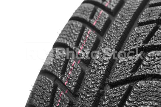Car tires close-up Winter wheel profile structure with water drops on white background  : Stock Photo or Stock Video Download rcfotostock photos, images and assets rcfotostock   RC-Photo-Stock.: