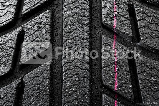 Car tires close-up Winter wheel profile structure with waterdrops  : Stock Photo or Stock Video Download rcfotostock photos, images and assets rcfotostock   RC-Photo-Stock.: