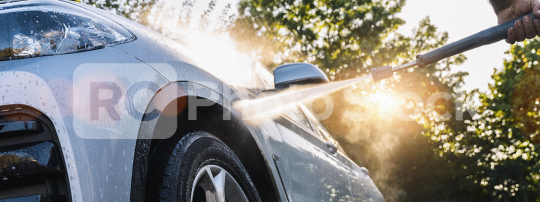 Car Wash Closeup. Washing Modern Car by High Pressure Water.  : Stock Photo or Stock Video Download rcfotostock photos, images and assets rcfotostock | RC-Photo-Stock.: