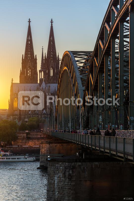Cathedral of cologne at sunset  : Stock Photo or Stock Video Download rcfotostock photos, images and assets rcfotostock | RC-Photo-Stock.: