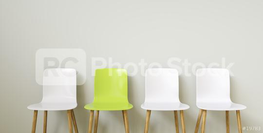 Chairs in arranged in front of a grey wall, with copy space for individual text   : Stock Photo or Stock Video Download rcfotostock photos, images and assets rcfotostock | RC-Photo-Stock.: