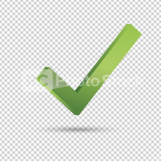 Check icon 3d, ok symbol in green color on the checked transparent background. Vector illustration. Eps 10 vector file.  : Stock Photo or Stock Video Download rcfotostock photos, images and assets rcfotostock   RC-Photo-Stock.: