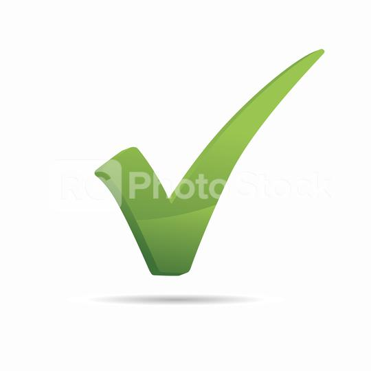 Check icon 3d, sign ok color green. Vector illustration. Eps 10 vector file.  : Stock Photo or Stock Video Download rcfotostock photos, images and assets rcfotostock | RC-Photo-Stock.: