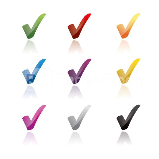 Check icon set 3d, ok symbol in different colors on white background. Vector illustration. Eps 10 vector file.  : Stock Photo or Stock Video Download rcfotostock photos, images and assets rcfotostock | RC-Photo-Stock.: