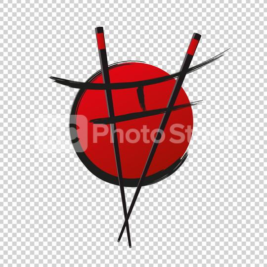 Chopstick Swoosh Bowl Oriental Japan Cuisine, Japanese Sushi Seafood logo design inspiration or Corporate design on checked transparent background. Vector illustration. Eps 10 vector file.  : Stock Photo or Stock Video Download rcfotostock photos, images and assets rcfotostock | RC-Photo-Stock.: