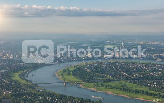City of Düsseldorf Aerial view  : Stock Photo or Stock Video Download rcfotostock photos, images and assets rcfotostock | RC-Photo-Stock.: