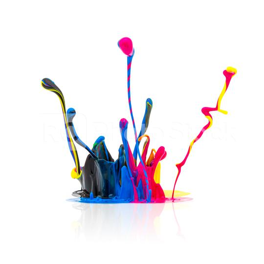 CMYK colors paint splashing   : Stock Photo or Stock Video Download rcfotostock photos, images and assets rcfotostock | RC-Photo-Stock.: