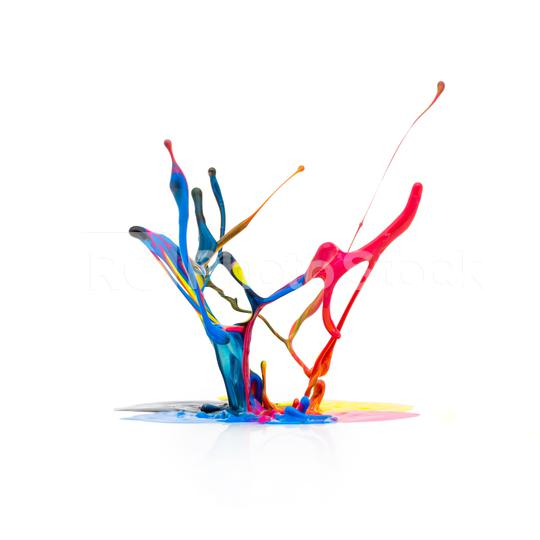CMYK paint colors splashing   : Stock Photo or Stock Video Download rcfotostock photos, images and assets rcfotostock | RC-Photo-Stock.: