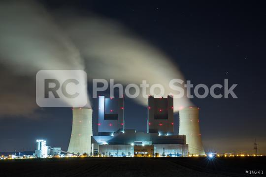 coal power station at night  : Stock Photo or Stock Video Download rcfotostock photos, images and assets rcfotostock | RC-Photo-Stock.: