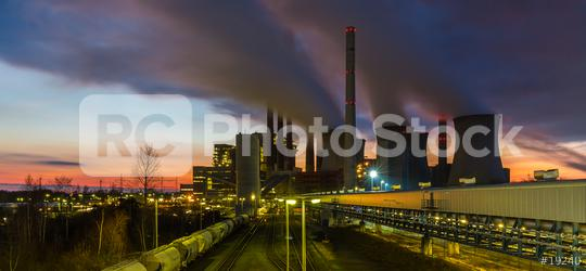 coal power station at sunset  : Stock Photo or Stock Video Download rcfotostock photos, images and assets rcfotostock | RC-Photo-Stock.: