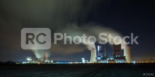 coal power stations at night panorama   : Stock Photo or Stock Video Download rcfotostock photos, images and assets rcfotostock | RC-Photo-Stock.: