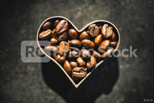 Coffee beans in a heart form  : Stock Photo or Stock Video Download rcfotostock photos, images and assets rcfotostock | RC-Photo-Stock.: