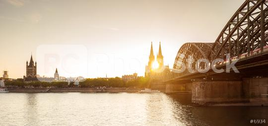 Cologne at sunset  : Stock Photo or Stock Video Download rcfotostock photos, images and assets rcfotostock   RC-Photo-Stock.: