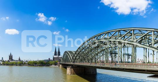 Cologne cathedral and Hohenzollern bridge panorama  : Stock Photo or Stock Video Download rcfotostock photos, images and assets rcfotostock | RC-Photo-Stock.: