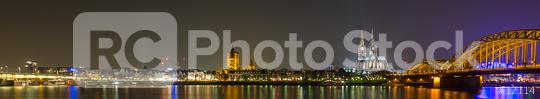 Cologne Cathedral and Night City Skyline  : Stock Photo or Stock Video Download rcfotostock photos, images and assets rcfotostock | RC-Photo-Stock.: