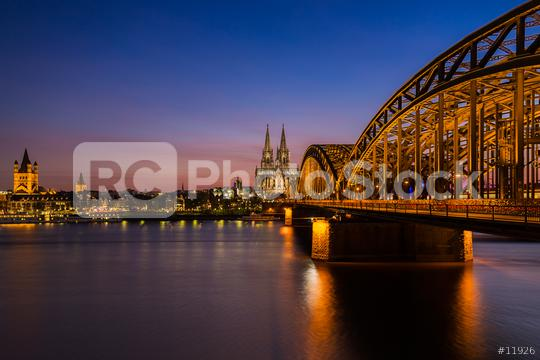 Cologne cathedral at sunset   : Stock Photo or Stock Video Download rcfotostock photos, images and assets rcfotostock   RC-Photo-Stock.: