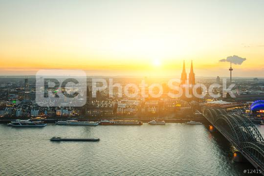 Cologne city at sunrise  : Stock Photo or Stock Video Download rcfotostock photos, images and assets rcfotostock | RC-Photo-Stock.: