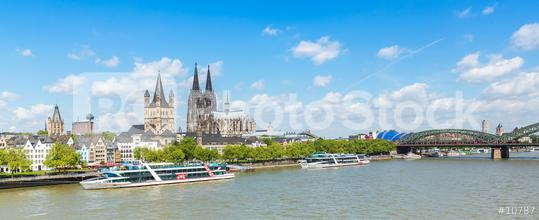 Cologne city skyline at summer  : Stock Photo or Stock Video Download rcfotostock photos, images and assets rcfotostock | RC-Photo-Stock.: