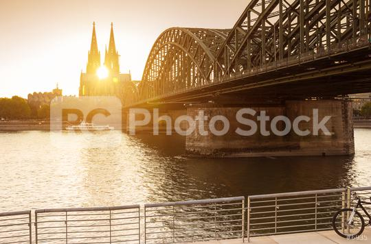 Cologne city skyline at sunset, Cologne, Germany  : Stock Photo or Stock Video Download rcfotostock photos, images and assets rcfotostock | RC-Photo-Stock.: