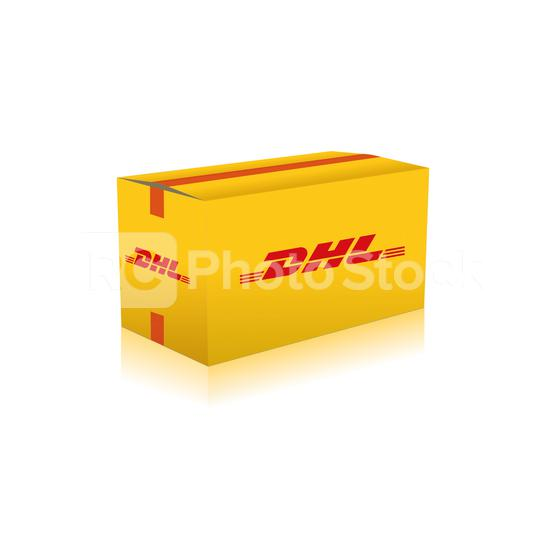 COLOGNE, GERMANY November, 2010: Yellow DHL Package delivery packaging service and parcels transportation. DHL Express is a division of the German worldwide logistics company.  : Stock Photo or Stock Video Download rcfotostock photos, images and assets rcfotostock | RC-Photo-Stock.: