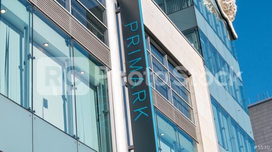COLOGNE, GERMANY OCTOBER, 2017: Primark store with logo. Primark is an Irish clothing retailer, operating in Austria, Belgium, Germany, Ireland, Portugal, Spain, the Netherlands and the UK.  : Stock Photo or Stock Video Download rcfotostock photos, images and assets rcfotostock | RC-Photo-Stock.: