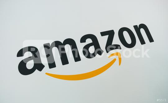 COLOGNE, GERMANY SEPTEMBER, 2017: Amazon Logo on a paper wall. Amazon is an American electronic e-commerce company distribution worlwide.  : Stock Photo or Stock Video Download rcfotostock photos, images and assets rcfotostock   RC-Photo-Stock.: