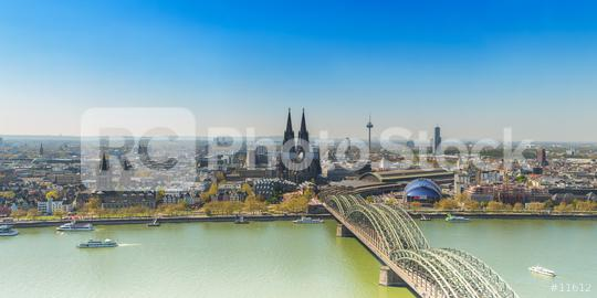 Cologne Skyline at spring  : Stock Photo or Stock Video Download rcfotostock photos, images and assets rcfotostock | RC-Photo-Stock.: