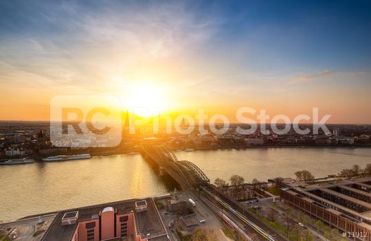 Cologne skyline at sunset  : Stock Photo or Stock Video Download rcfotostock photos, images and assets rcfotostock | RC-Photo-Stock.: