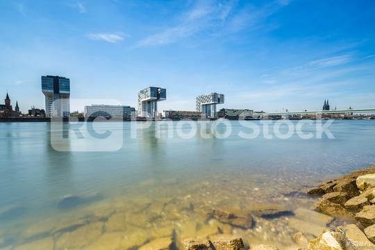 cologne skyline at the rhine shore  : Stock Photo or Stock Video Download rcfotostock photos, images and assets rcfotostock   RC-Photo-Stock.: