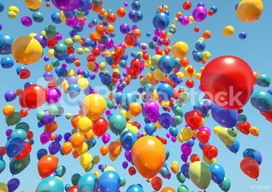 colorful Balloons Flying to the sky - 3D Rendering  : Stock Photo or Stock Video Download rcfotostock photos, images and assets rcfotostock | RC-Photo-Stock.: