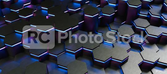 colorful bright neon uv blue and purple lights abstract hexagons background pattern, gaming Concept image - 3D rendering - Illustration   : Stock Photo or Stock Video Download rcfotostock photos, images and assets rcfotostock | RC-Photo-Stock.: