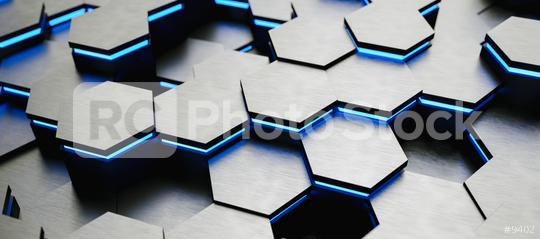 colorful bright neon uv blue lights abstract hexagons background pattern, gaming Concept image - 3D rendering - Illustration   : Stock Photo or Stock Video Download rcfotostock photos, images and assets rcfotostock | RC-Photo-Stock.: