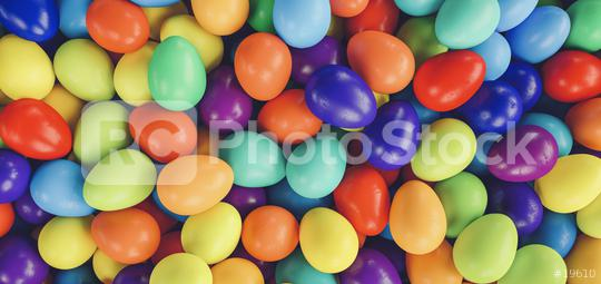 Colorful easter eggs - 3D Rendering Illustration  : Stock Photo or Stock Video Download rcfotostock photos, images and assets rcfotostock | RC-Photo-Stock.: