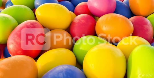 Colorful easter eggs background - 3D Rendering Illustration  : Stock Photo or Stock Video Download rcfotostock photos, images and assets rcfotostock | RC-Photo-Stock.: