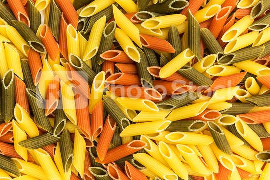 colorful penne pasta background  : Stock Photo or Stock Video Download rcfotostock photos, images and assets rcfotostock   RC-Photo-Stock.:
