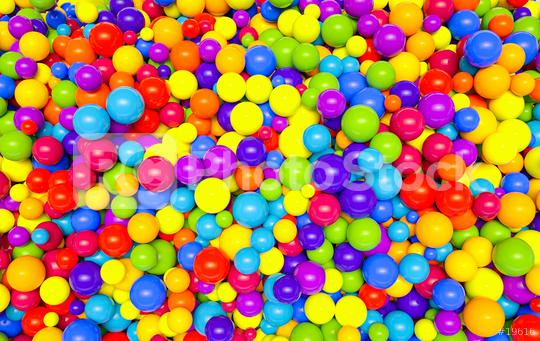 colorful plastic balls in children park background - 3D Rendering  : Stock Photo or Stock Video Download rcfotostock photos, images and assets rcfotostock | RC-Photo-Stock.: