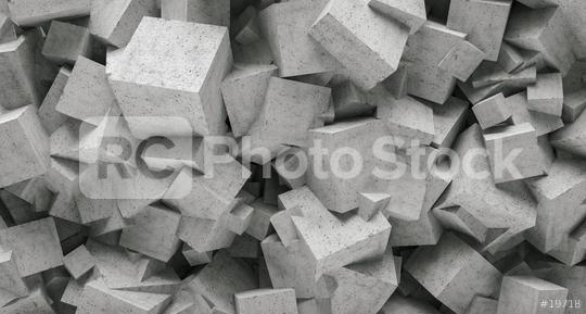 concrete 3d cube wall background  : Stock Photo or Stock Video Download rcfotostock photos, images and assets rcfotostock | RC-Photo-Stock.: