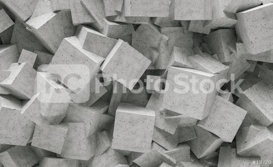 concrete cube wall background - 3D Rendering  : Stock Photo or Stock Video Download rcfotostock photos, images and assets rcfotostock | RC-Photo-Stock.: