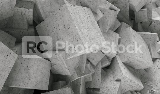 concrete cubes wall background - 3D Rendering  : Stock Photo or Stock Video Download rcfotostock photos, images and assets rcfotostock | RC-Photo-Stock.: