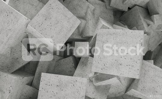 concrete interior cubes wall background - 3D Rendering  : Stock Photo or Stock Video Download rcfotostock photos, images and assets rcfotostock | RC-Photo-Stock.: