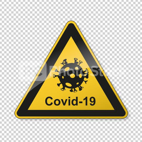 Coronavirus 2019-nCoV. Corona virus Pathogen respiratory infection attention sign. Safety signs, warning Sign, Danger BGV Pandemic medical concept for covid-19 on transparent background. Vector Eps10  : Stock Photo or Stock Video Download rcfotostock photos, images and assets rcfotostock   RC-Photo-Stock.: