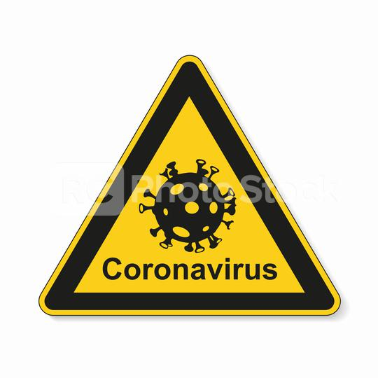 Coronavirus 2019-nCoV. Corona virus Pathogen respiratory infection attention sign. Safety signs, warning Sign, Danger symbol BGV Pandemic medical concept for covid-19 on white background. Vector Eps10  : Stock Photo or Stock Video Download rcfotostock photos, images and assets rcfotostock   RC-Photo-Stock.: