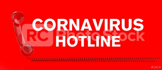 Coronavirus hotline with Covid-19 Sars-CoV-2 virus and a red telephone  : Stock Photo or Stock Video Download rcfotostock photos, images and assets rcfotostock | RC-Photo-Stock.: