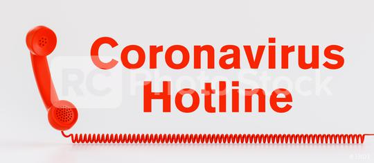 Coronavirus hotline with Covid-19 virus and a red telephone  : Stock Photo or Stock Video Download rcfotostock photos, images and assets rcfotostock | RC-Photo-Stock.:
