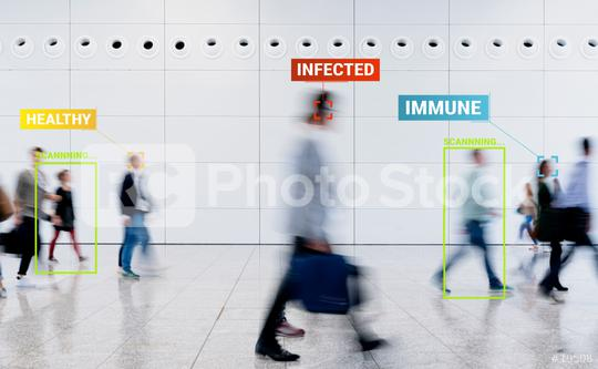 Coronavirus Tracking App mit Überwachung von Kontaktpersonen  : Stock Photo or Stock Video Download rcfotostock photos, images and assets rcfotostock | RC-Photo-Stock.: