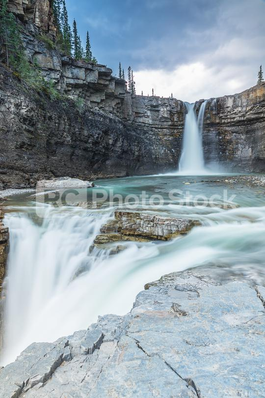 crescent falls waterfall in banff Canada   : Stock Photo or Stock Video Download rcfotostock photos, images and assets rcfotostock | RC-Photo-Stock.: